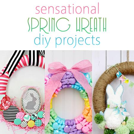 Sensational Spring Wreath DIY Projects