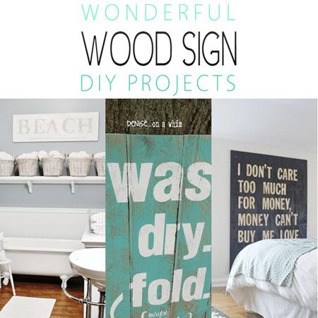 Wonderful Wood Sign DIY Projects