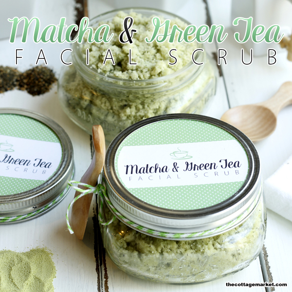 This matcha and green tea facial scrub is DIY and makes for a great gift.