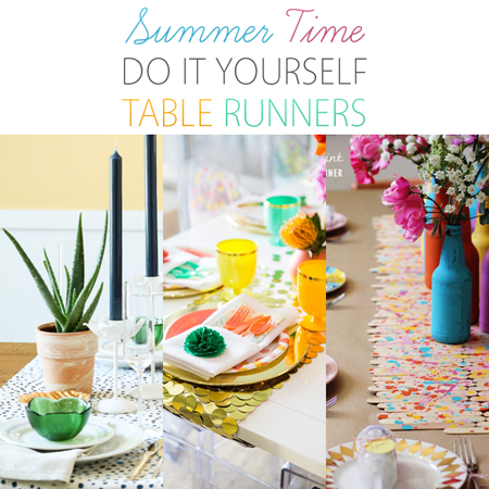 Summer Time DIY Table Runners