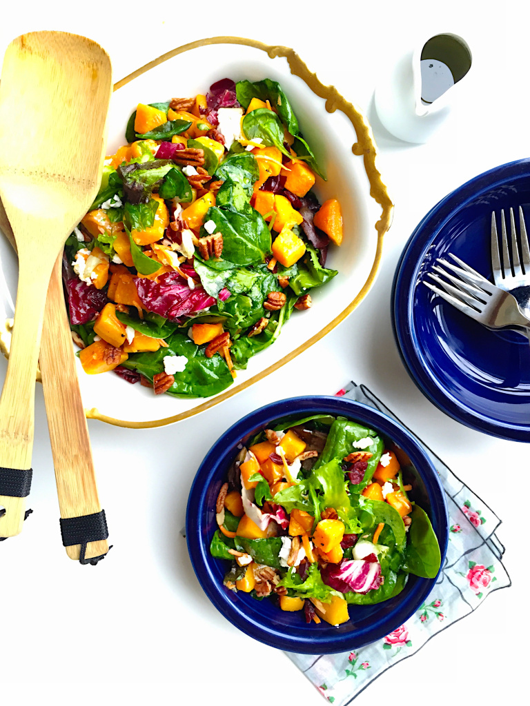 roasted-butternut-squash-salad-with-cranberries-pecans-and-goat-cheese