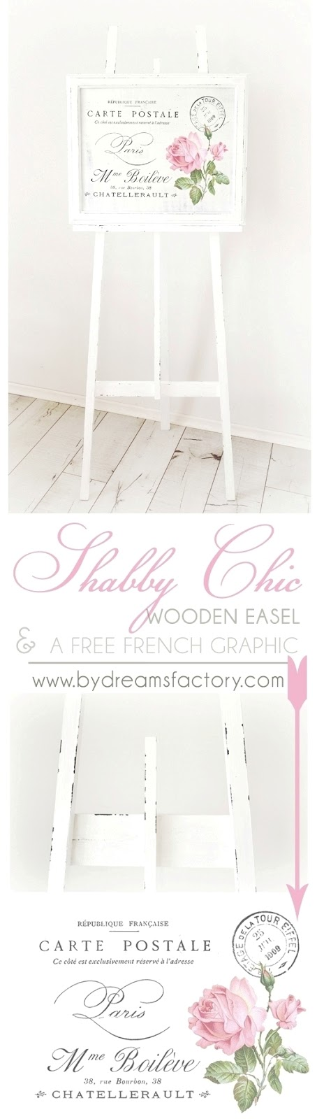 shabby chic wooden easel copy