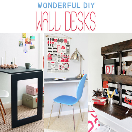 Wonderful DIY Wall Desks