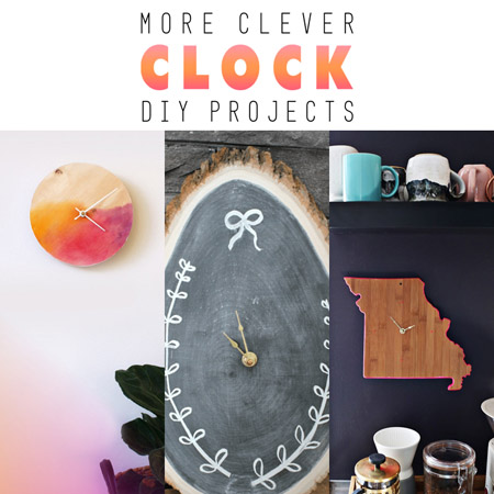More Clever DIY Clock Projects