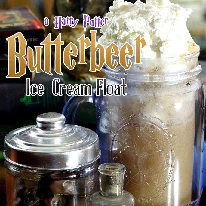 Harry Potter Inspired Butterbeer Ice Cream Float