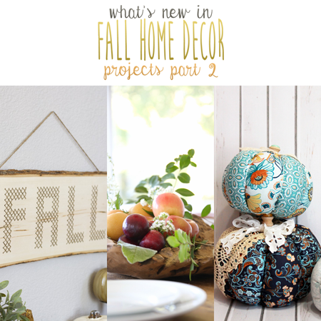 What's New in Fall Home Decor Projects Part 2