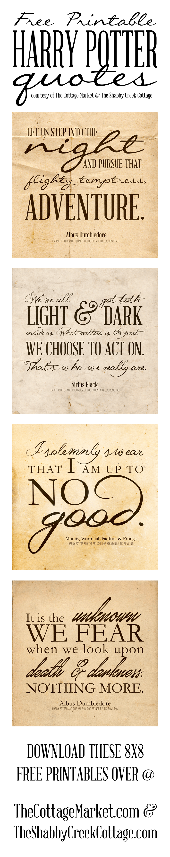 Harry Potter Printable - Harry Potter Quotes