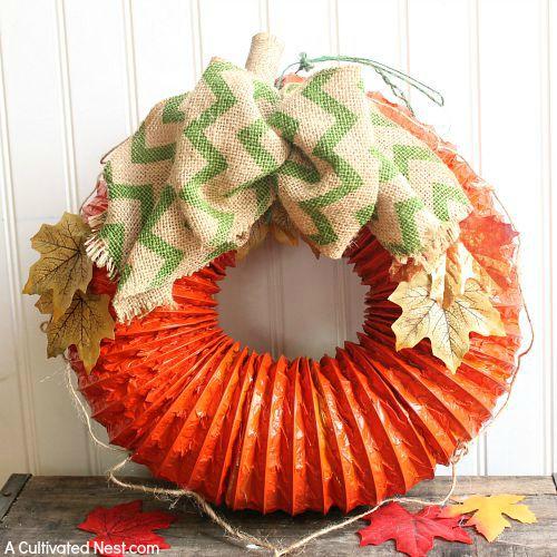 diy-dryer-vent-pumpkin-wreath