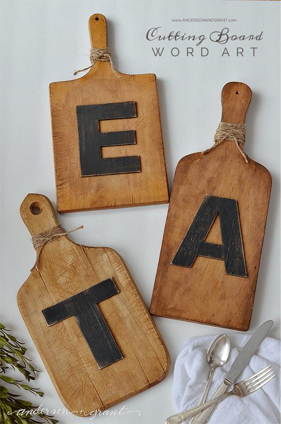 Cutting Board Word Art anderson + grant