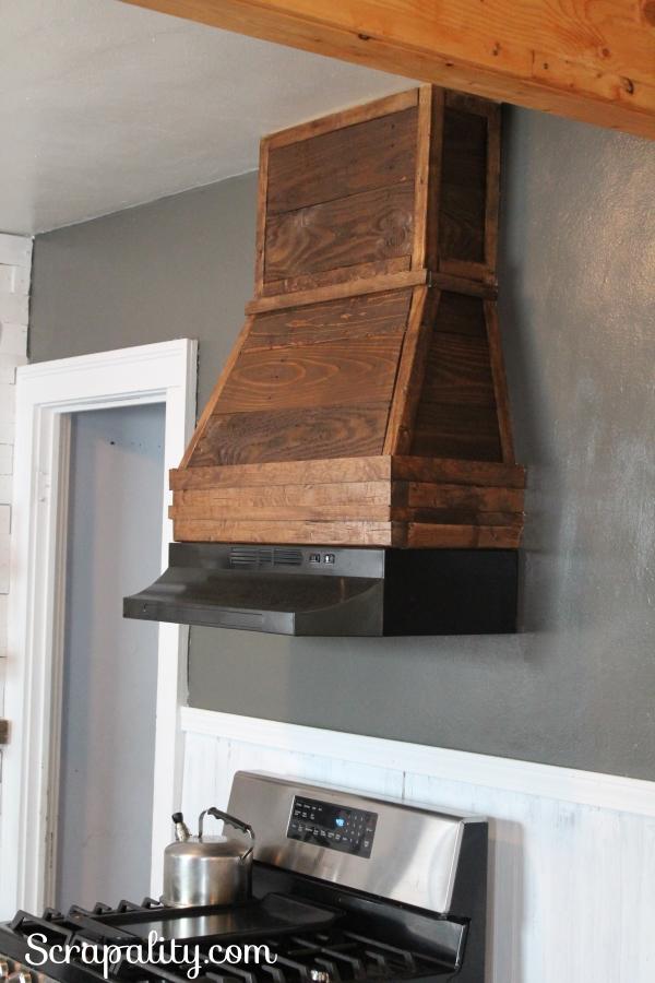 Rustic-Range-Hood-Using-Pallet-Wood-in-the-Kitchen