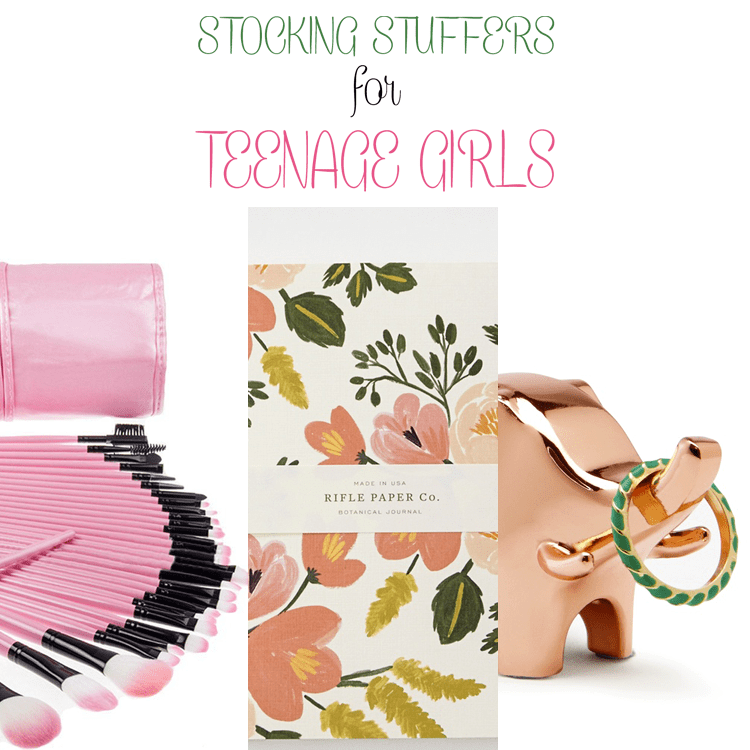 Looking for some great stocking stuffers for teenage girls? Here's a collection that any girl will love!