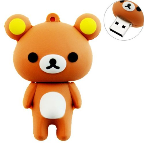This cute bear flash drive can go anywhere and store anything