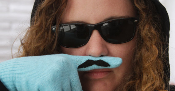 Finger mustaches are SO in!
