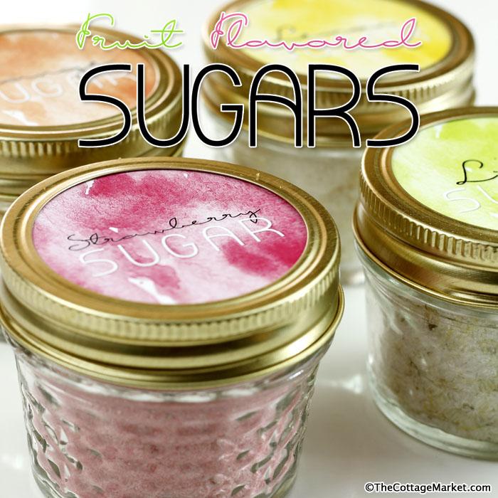 Fruit Flavored Sugar DIY with Free Printable Labels
