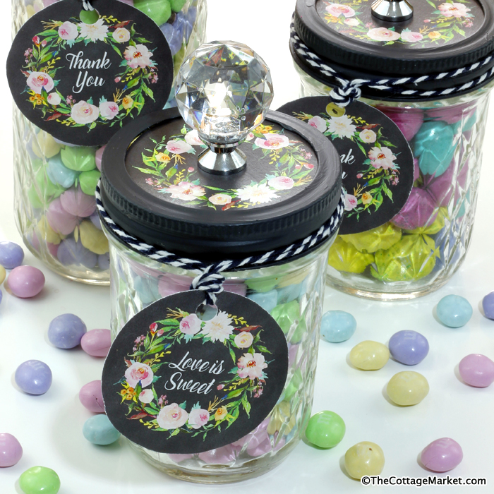 Diy Candy Mason Jars Great Favors Free Printables The Cottage Market