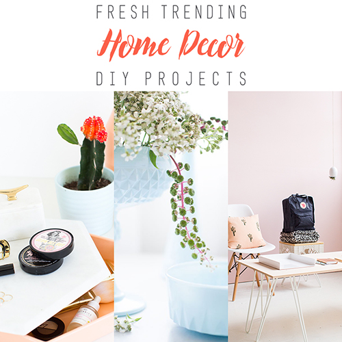 Fresh Trending Home Decor DIY Projects