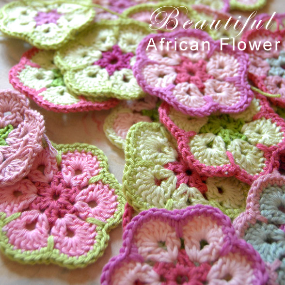 These mini crocheted patterns resemble African flowers and are colorful too.