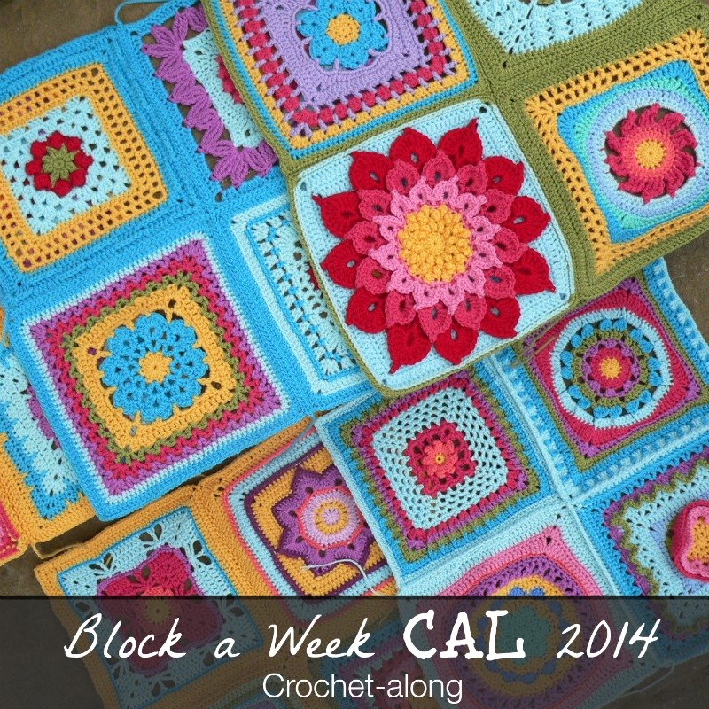 These crocheted blankets featuring different flower designs are colorful and fun.