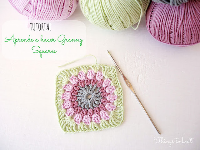 This granny square crochet pattern is colorful and simple.
