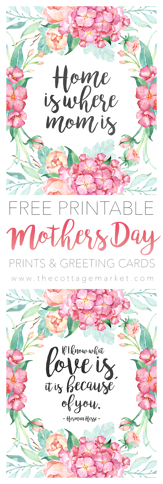 These sweet Mother's Day printables are free and heartwarming.