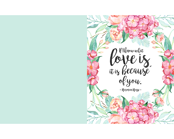 This Mother's Day printable has a lovely quote.