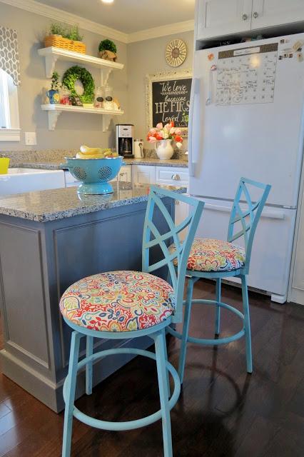 turquoise stools