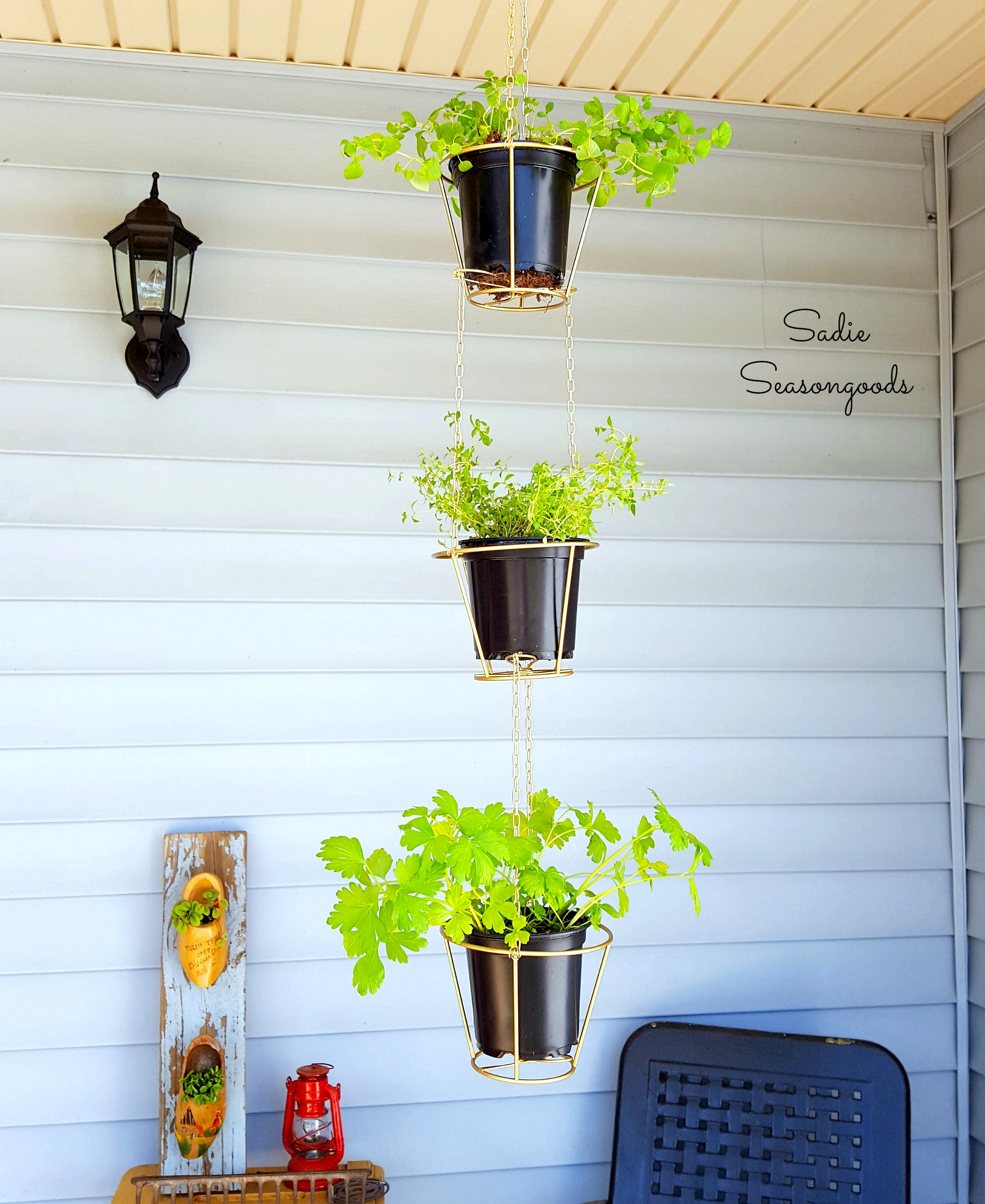 9_thrift_store_lampshades_repurposed_as_hanging_herb_baskets_Sadie_Seasongoods-1