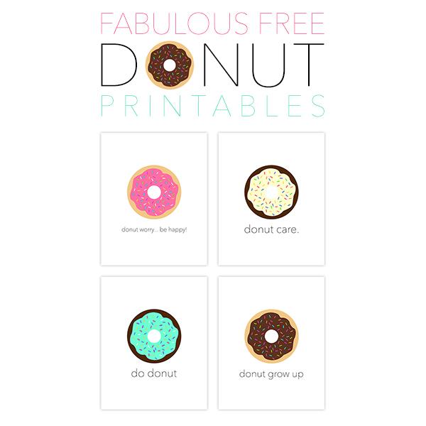 Fabulous Free Donut Printables
