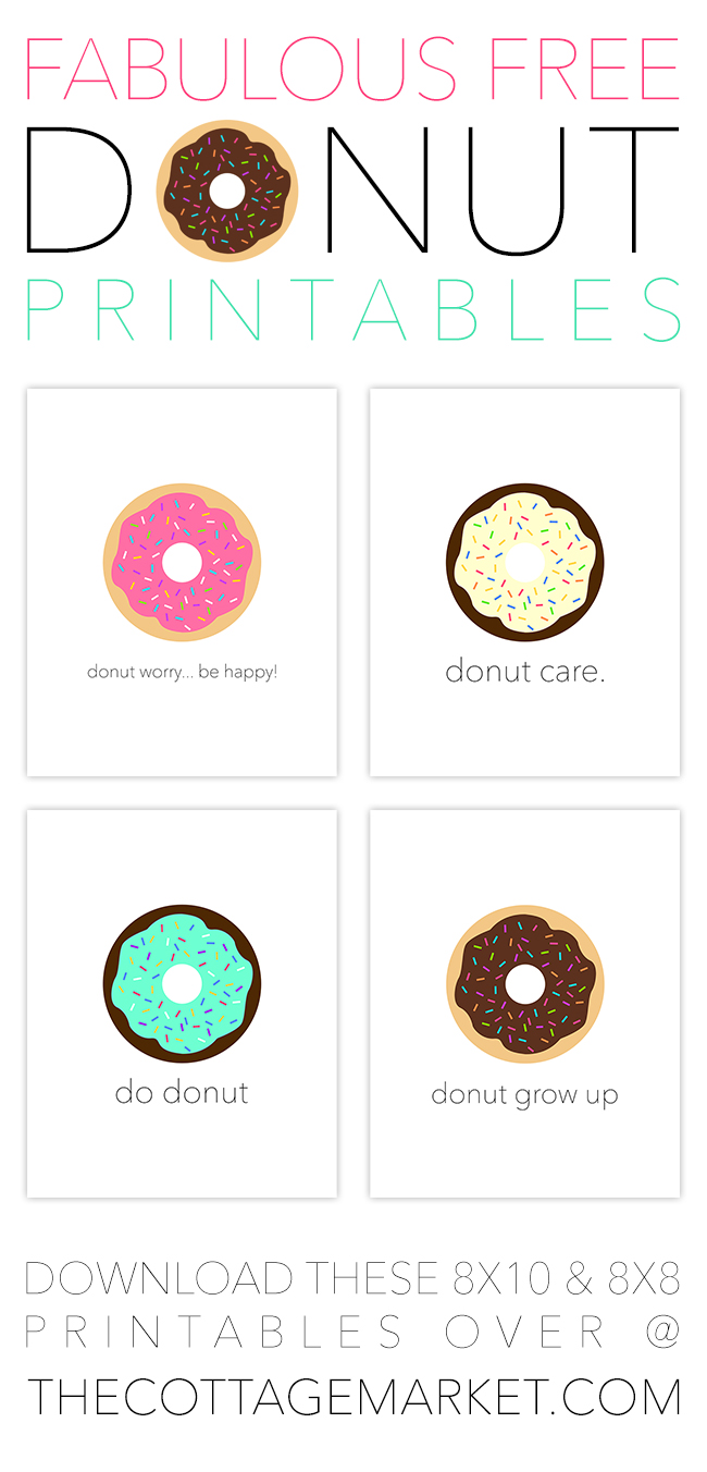 Free donut printables - celebrate national donut day in style with these FREE printables