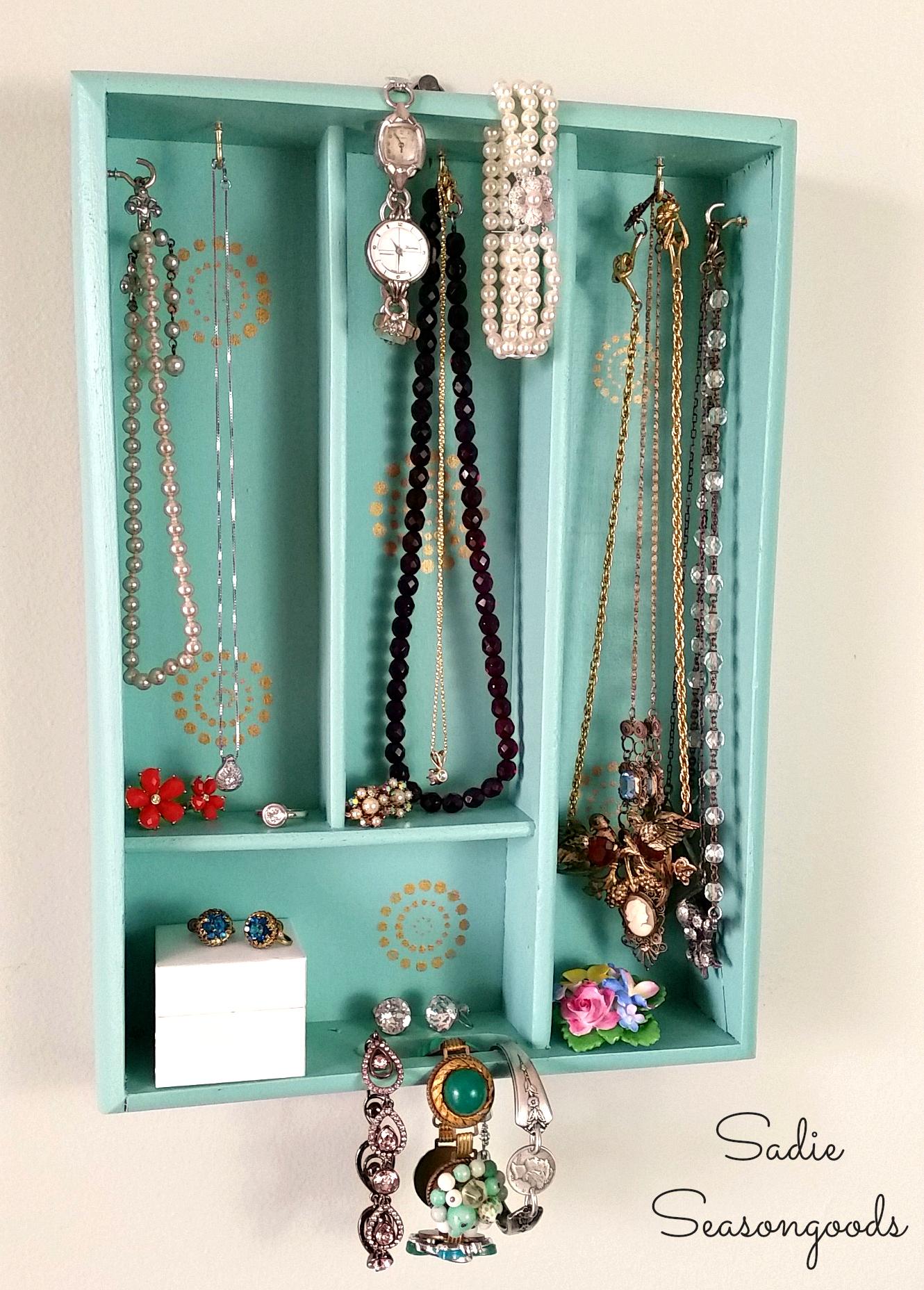 8_vintage_silverware_organizer_tray_upcycled_into_jewelry_holder_DIY_Sadie_Seasongoods