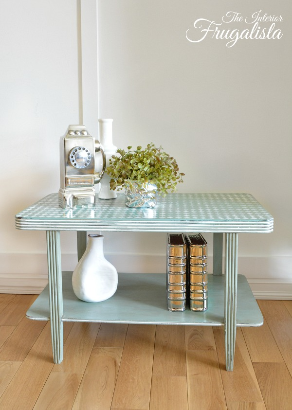 Distressed Harlequin Table After 600