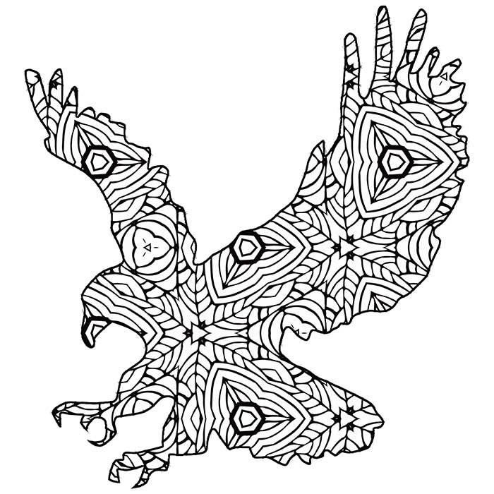 This free printable eagle graphic looks fun to color in.
