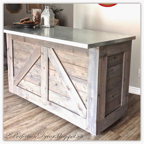 This Ikea Varden Kitchen Island is now a gorgeous farmhouse style entertaining bar