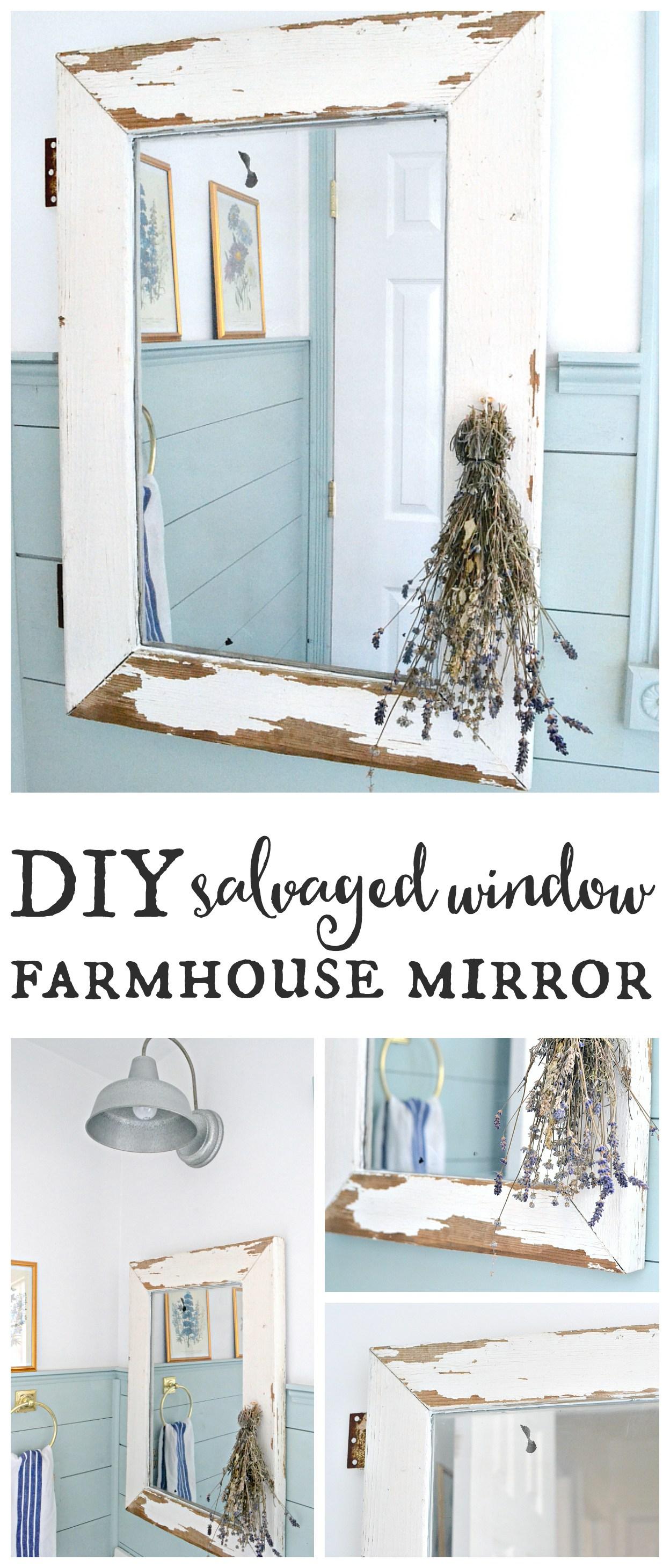 Salvaged-window-farmhouse-mirror.-Turn-a-salvaged-window-into-a-farmhouse-mirror-in-just-a-few-easy-steps-Find-it-on-theweatheredfox.com_