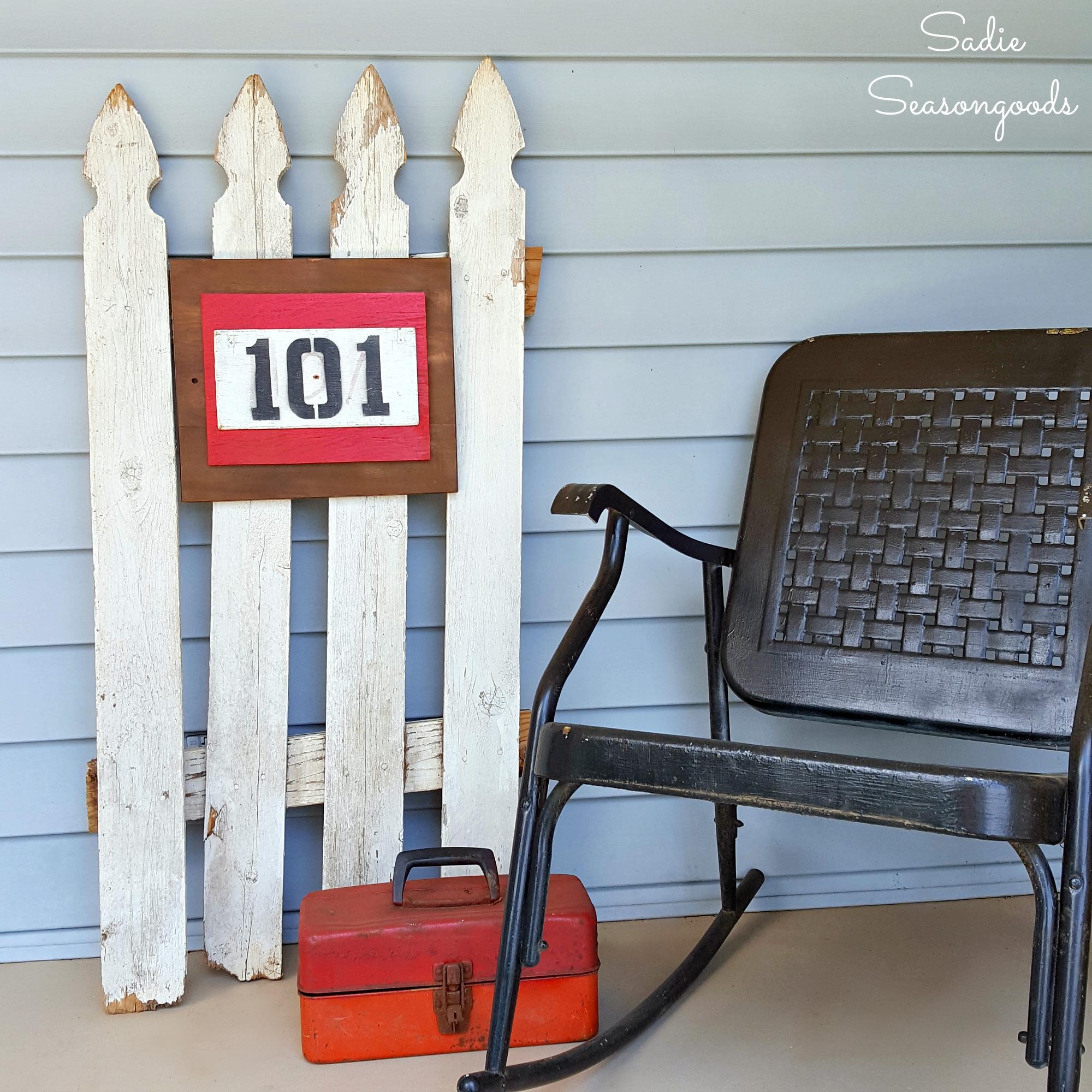 11_DIY_farmhouse_style_address_numbers_plaque_using_repurposed_salvaged_barn_stall_number_Sadie_Seasongoods