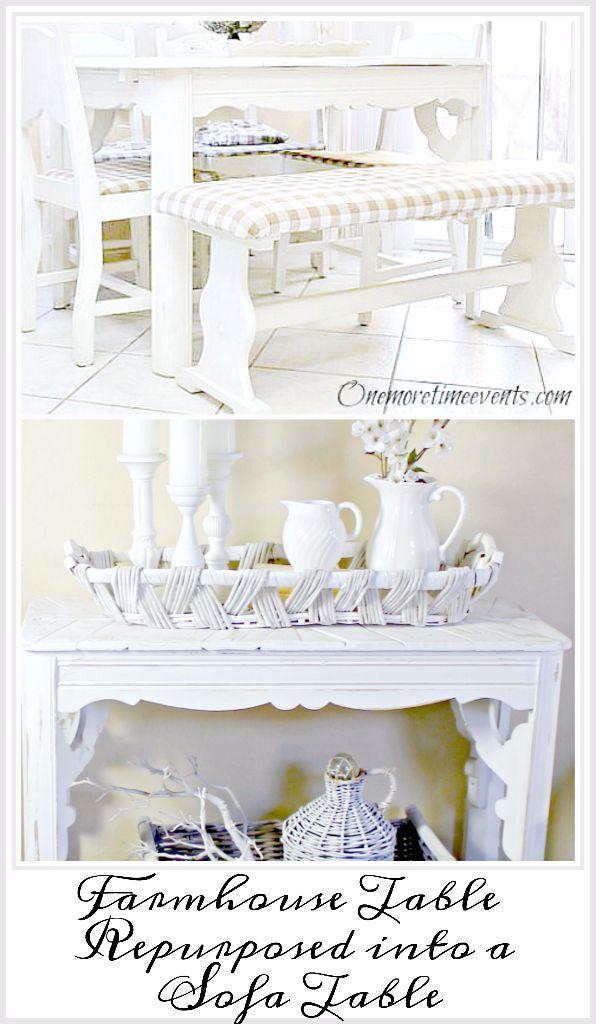 Farmhouse-Table-repurposed-into-Sofa-table