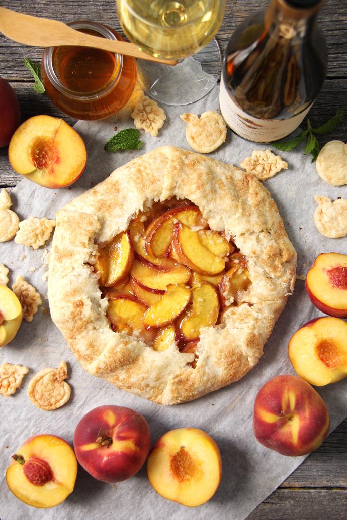 Honey-Peach-Galette