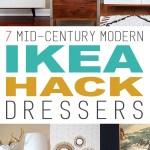 7 Mid Century Modern Ikea Dresser Makeovers The Cottage Market