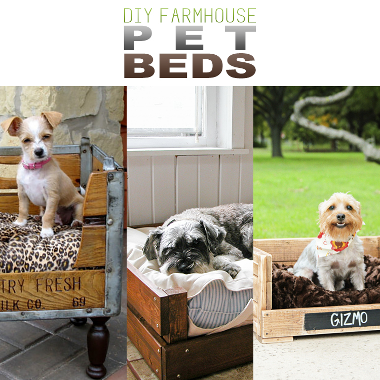 DIY Farmhouse Pet Beds