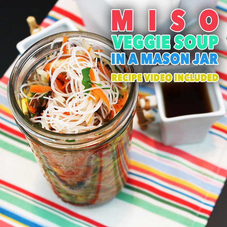 Miso Veggie Soup in a Mason Jar /// Recipe Video Included!