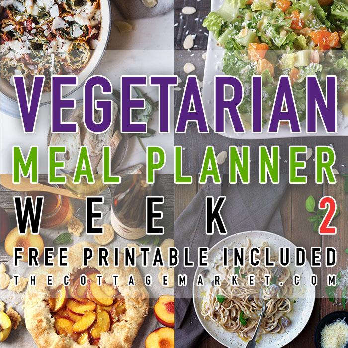 Vegetarian Meal Planner Week 2 (Free Printable)