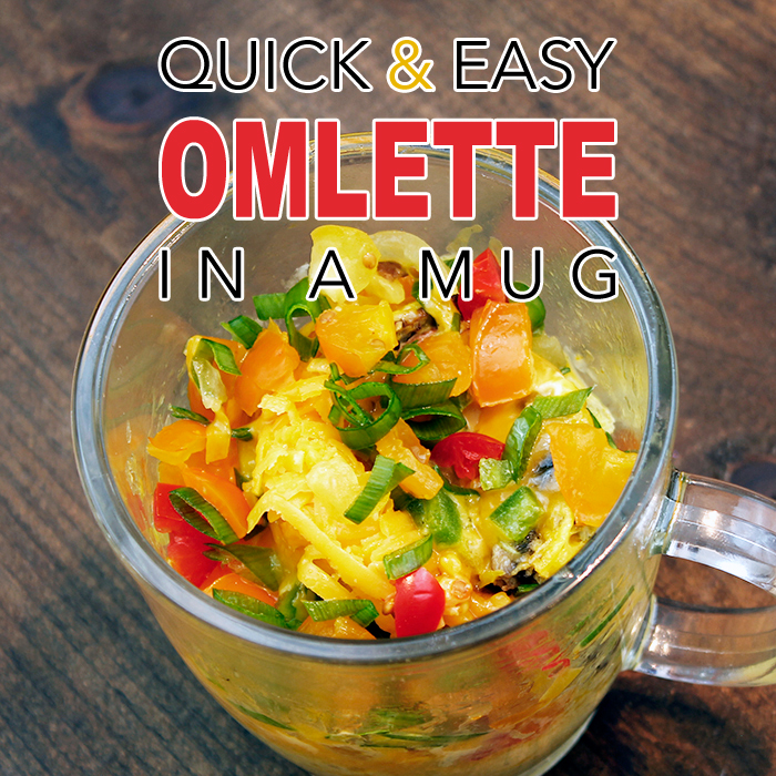 Quick and Easy Omelette in a Mug