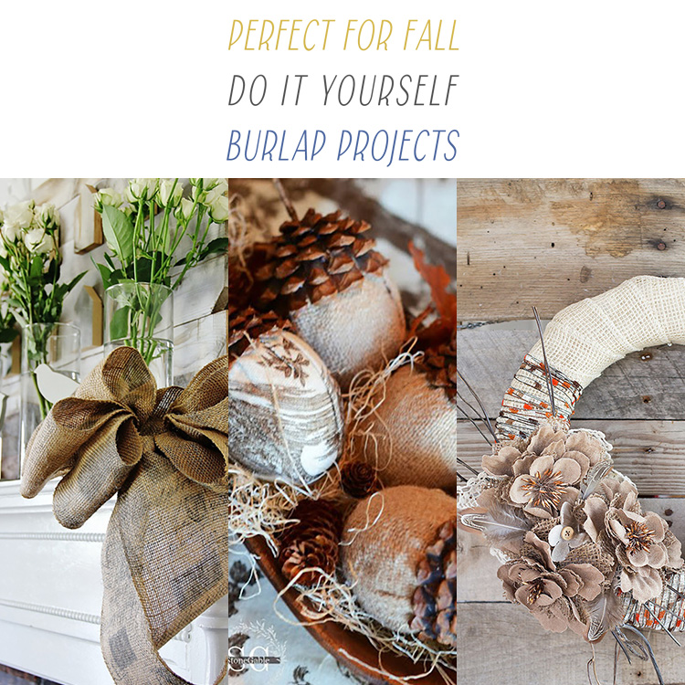 17 Perfect for Fall DIY Burlap Projects