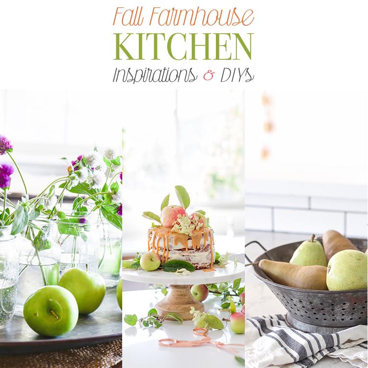 10 Fall Farmhouse Kitchen Inspirations and DIYs