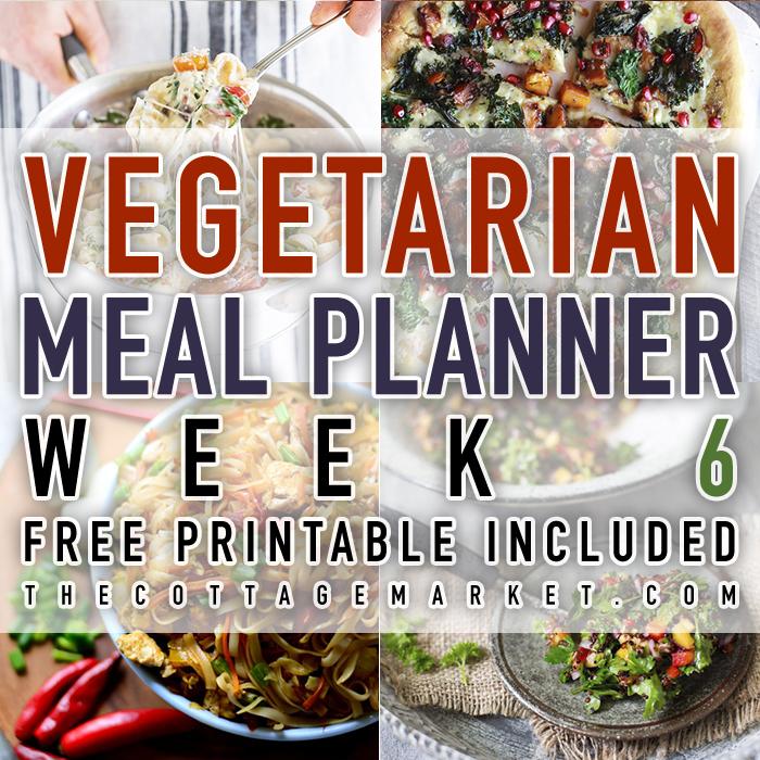Vegetarian Meal Planner Week 6