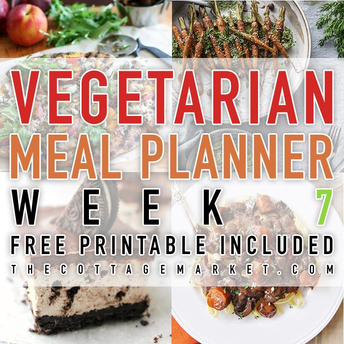 Vegetarian Meal Planner Week 7