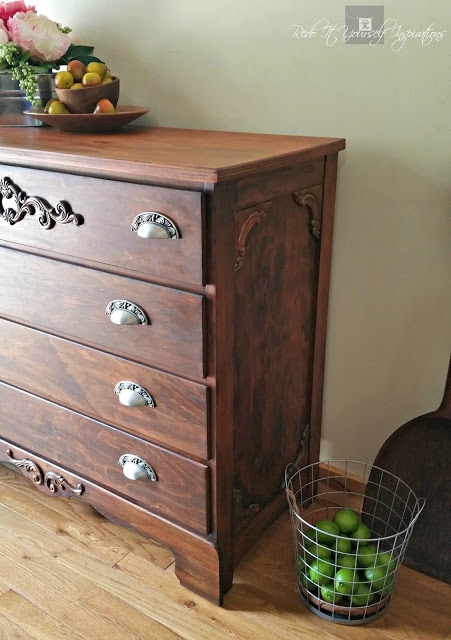 refinished chest of drawers into antique look wm
