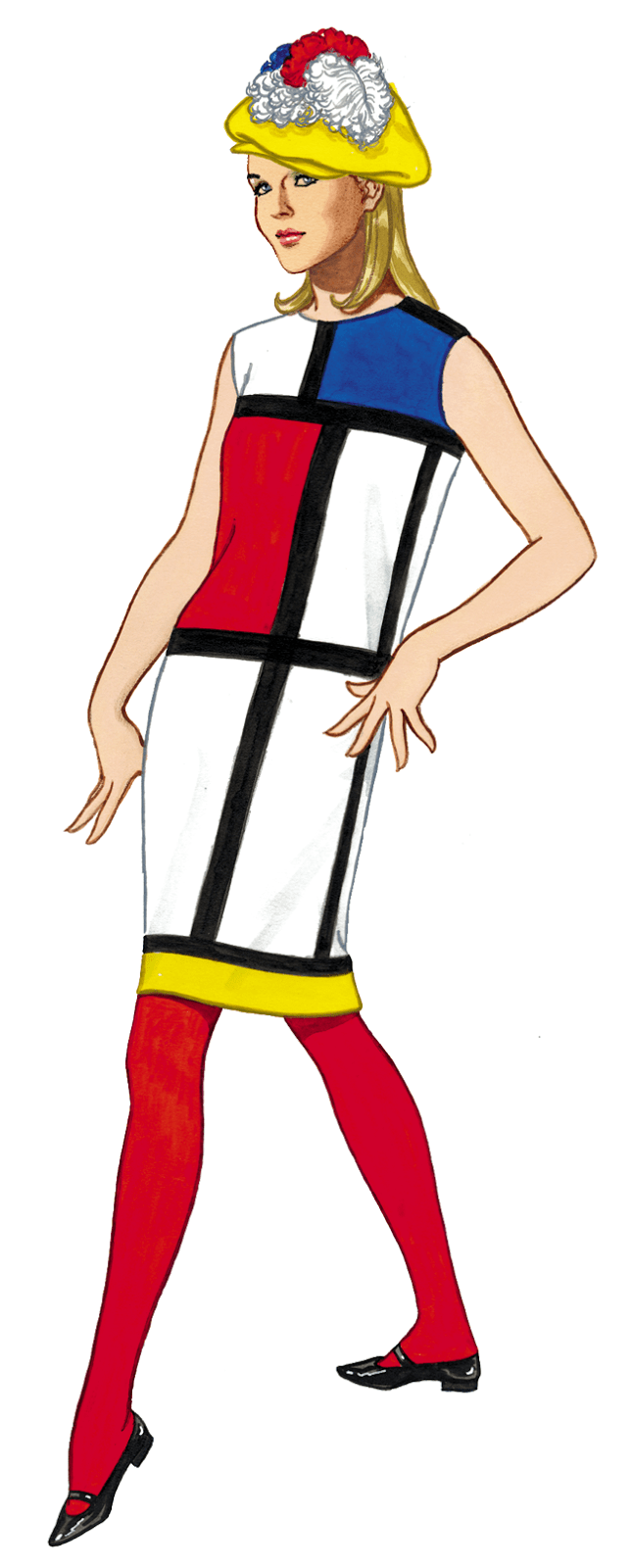 Graphic of the Day 1960's MOD Fashion Illustration