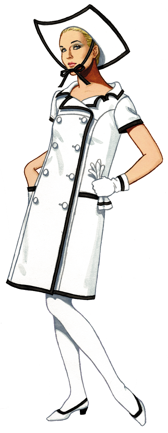 Graphic of the Day 1965 Courrege Wool Coat Dress