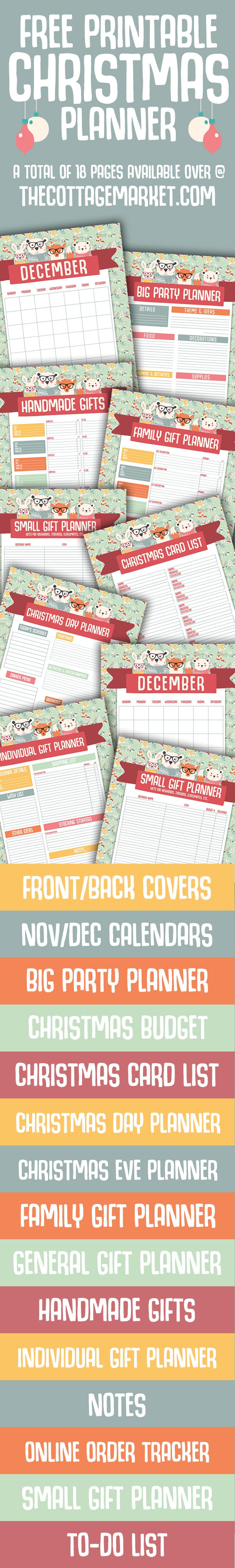 Free Christmas Planner | Printable Christmas Planner